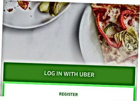 Uber ovqatlanish uchun ro'yxatdan o'tish