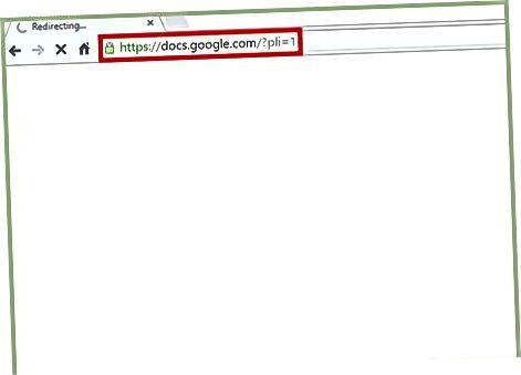 Brauzer orqali Google Docs orqali
