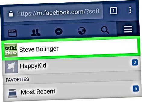 Использование мобильного сайта Facebook