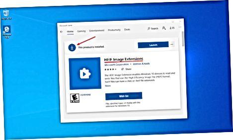 Microsoft do'konidan HEIC uchun kodeklarni o'rnatish