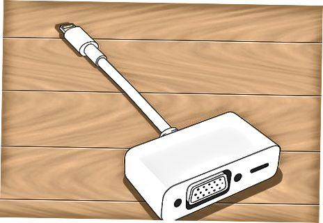 Analog adapter va kabeldan foydalanish