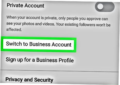 Biznes profiliga o'tish