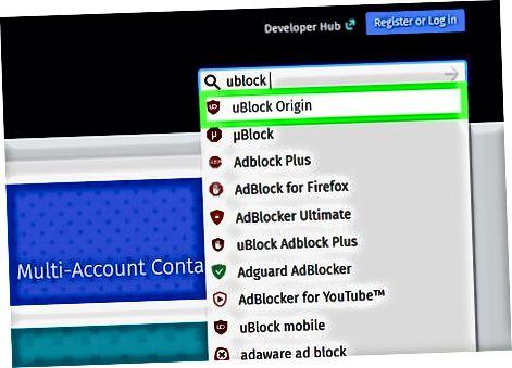 Kompyuterda Firefox uchun uBlock Origin-dan foydalanish