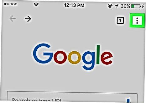 Mobil qurilmadagi Chrome
