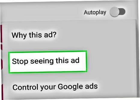 Pop-up va banner reklamalari haqida xabar berish