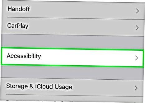 Cambiar la configuración de accesibilidad