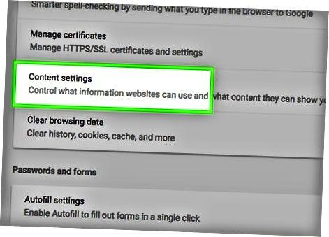 Chrome sozlamalarini sozlash (Kompyuter)
