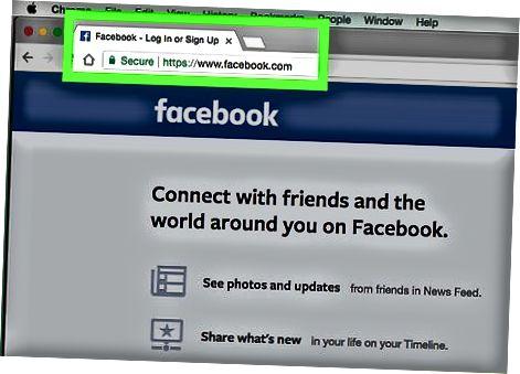 फेसबुक वेबसाइट का उपयोग करना