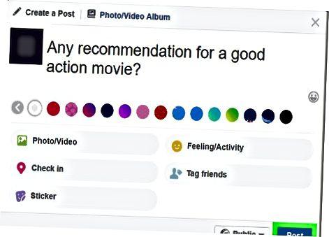 Facebook-ning tavsiyalar xususiyatidan foydalanish