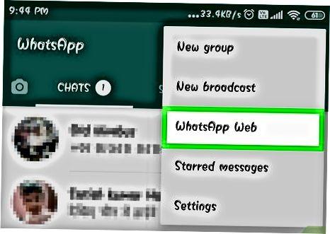 WhatsApp Internet-ni kompyuterda faollashtirish