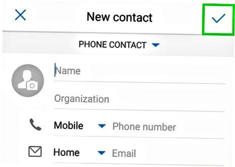 Android-ga kontakt qo'shish