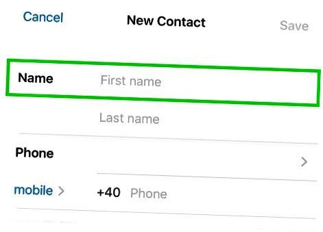 IPhone-da kontaktni qo'shish