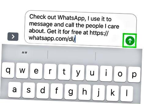 IPhone-dagi WhatsApp-ga kontaktni taklif qilish