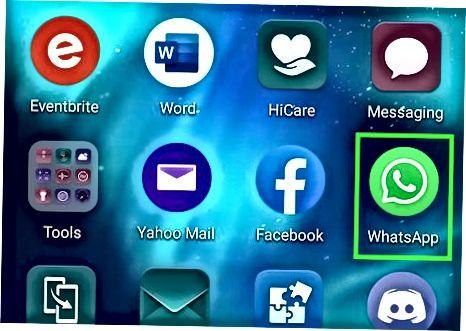 Android-dagi WhatsApp-ga kontaktni taklif qilish
