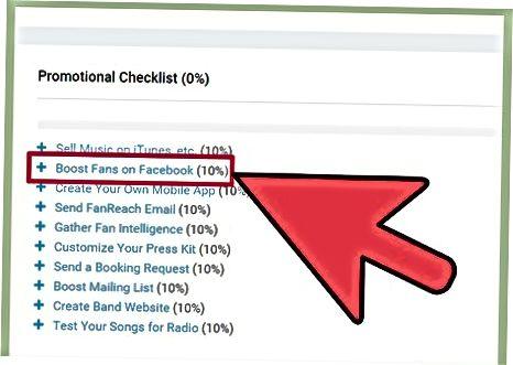 ReverbNation san'atkoringiz profiliga Facebook sahifasini qo'shish