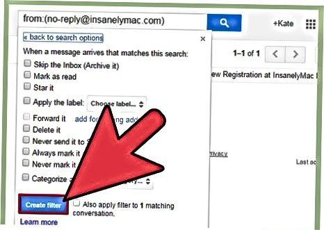 Gmail-da filtrlar yaratish