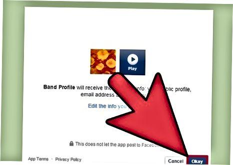 ReverbNation ro'yxatdan o'tish paytida Facebook sahifasini qo'shish