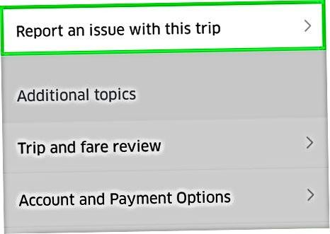 Ziņošana par problēmu ar autovadītāju vai braucienu