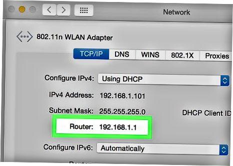 Router manzilini topish (Mac)