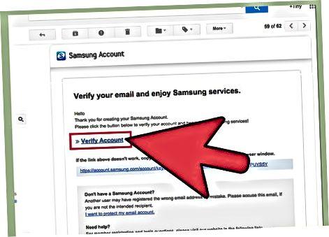 Samsung veb-saytida qayd yozuvini yaratish