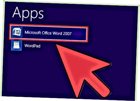 Microsoft Word fayllarini Microsoft Word-da ochish