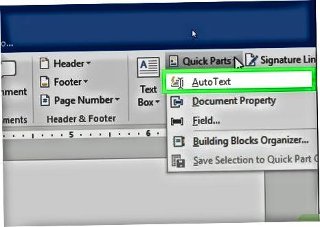 AutoText-ni hujjatga qo'shish