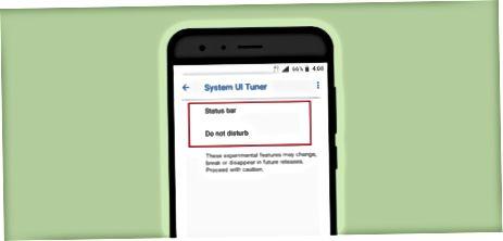 System UI Tuner-dan foydalanish.
