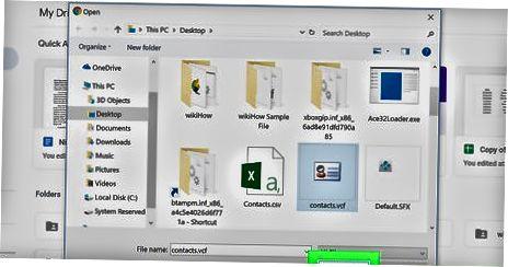 VCard-ni Google Drive-ga qo'shish