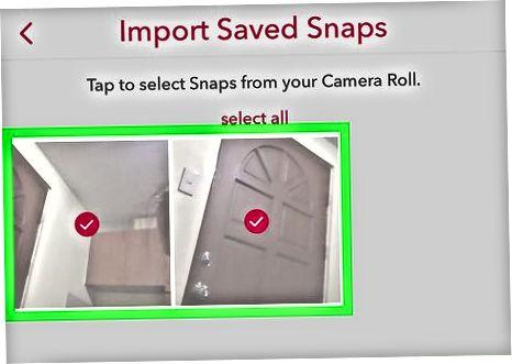 Kamera rolikingizdan rasmlarni Snapchat-ga sinxronlashtirish