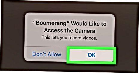 Grabar un video en bucle con Boomerang