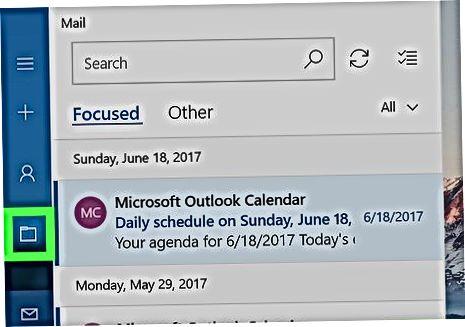 Windows Mail-dagi arxiv jildiga kirish