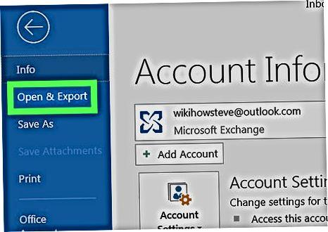 Arxivlangan Outlook elektron pochta faylini Outlook ilovasida import qilish