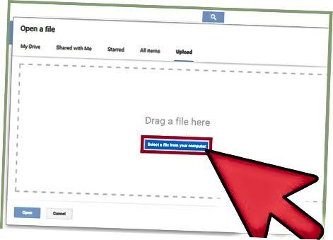 Google Docs veb-sahifasi orqali videolarni yuklash