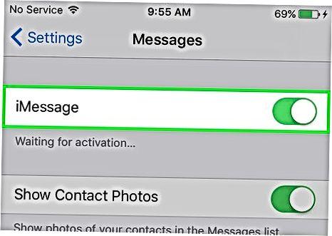 IPhone-da iMessages-ni faollashtirish