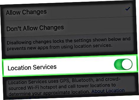 Solución de problemas de servicios de ubicación