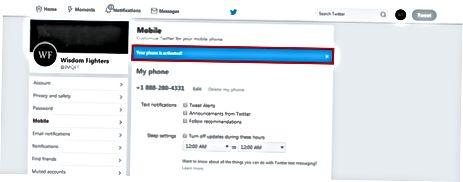 Twitterning veb-sahifasi orqali