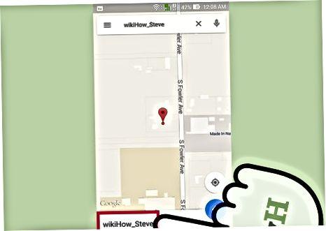 Google Maps App (Android va iOS) yordamida kontaktni ko'rish