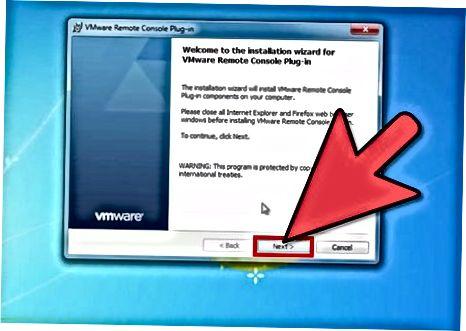 VMware konsol plaginini o'rnatish