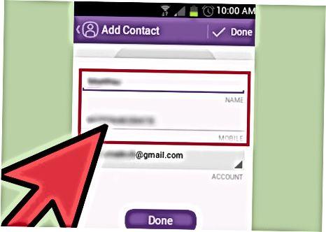 Viber-ga kontakt qo'shish