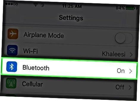 Bluetooth o'chirilmoqda