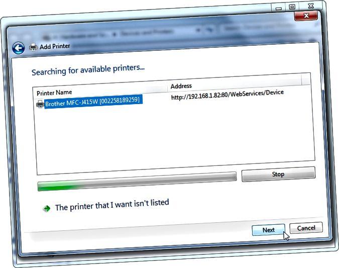 Windows에서 네트워크 프린터 추가