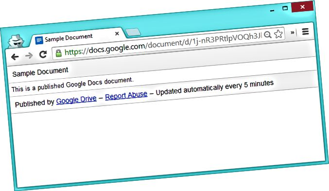 published-google-docs-document