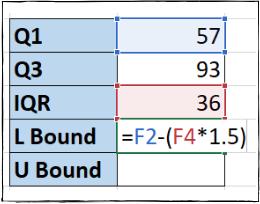 Τύπος Excel για χαμηλότερη τιμή ορίου