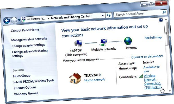 visualització de la xarxa de connexió-estat-Windows
