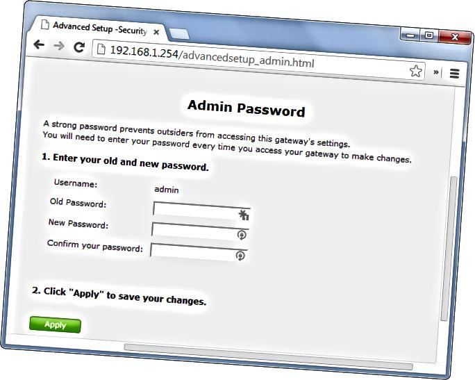 change-router-password