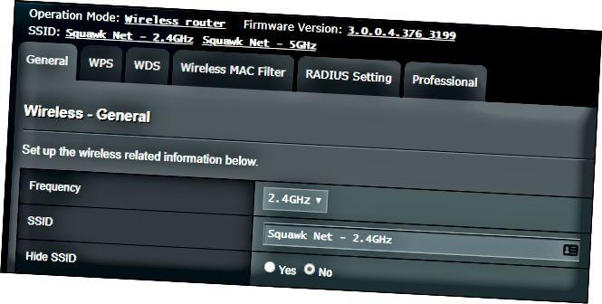 Налады Wi-Fi SSID на бесправадным маршрутызатары