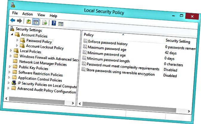 지역 보안 정책 도구