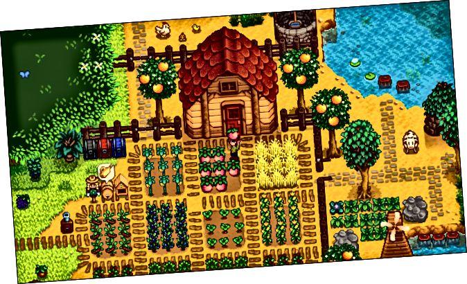 Una agricultura de personatges a