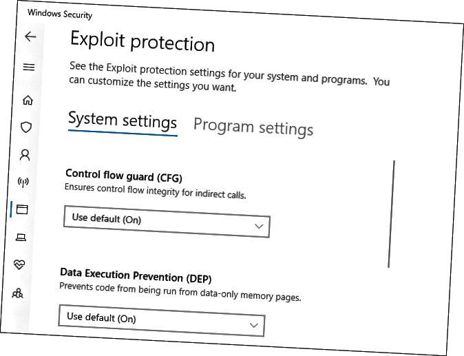 Εκμετάλλευση ρυθμίσεων προστασίας στην Ασφάλεια των Windows
