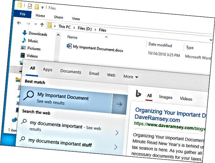 Η αναζήτηση αρχείων των Windows 10 δεν βρίσκει αρχείο